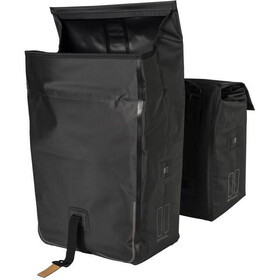 Basil Urban Dry Double Pannier Bag 50l, with MIK System, solid black
